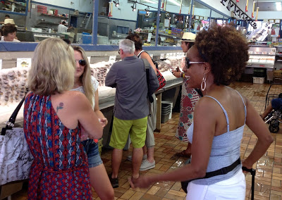 Conversa na peixaria